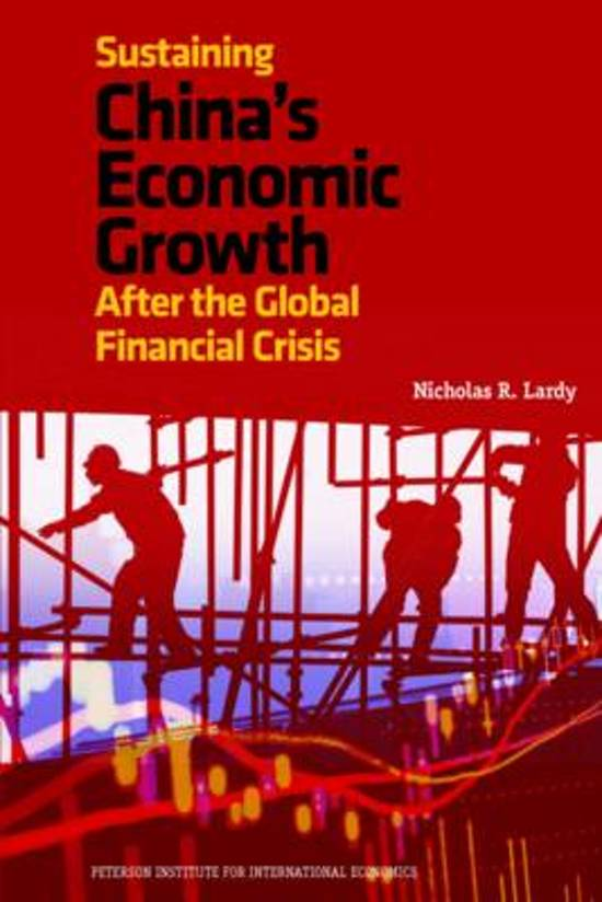 Sustaining Chinas Economic Growth - After the Global Financial Crisis