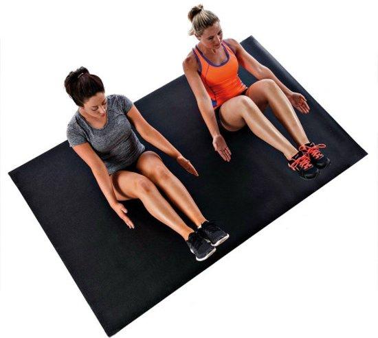 Sportbay® Pro Cardio Fitnessmat Zwart (Extra Groot