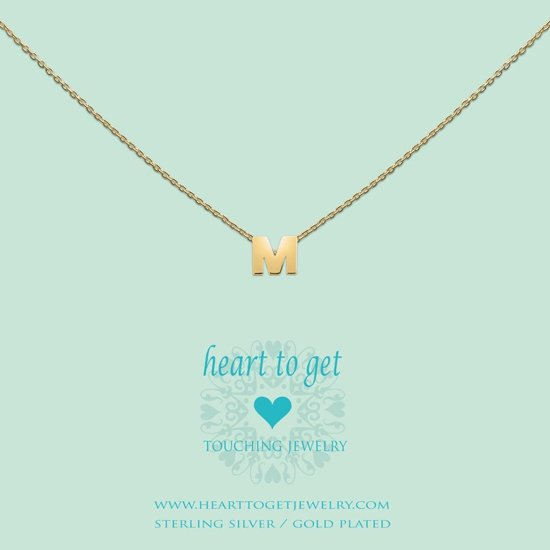 Heart to get Inital, silver,  letter M