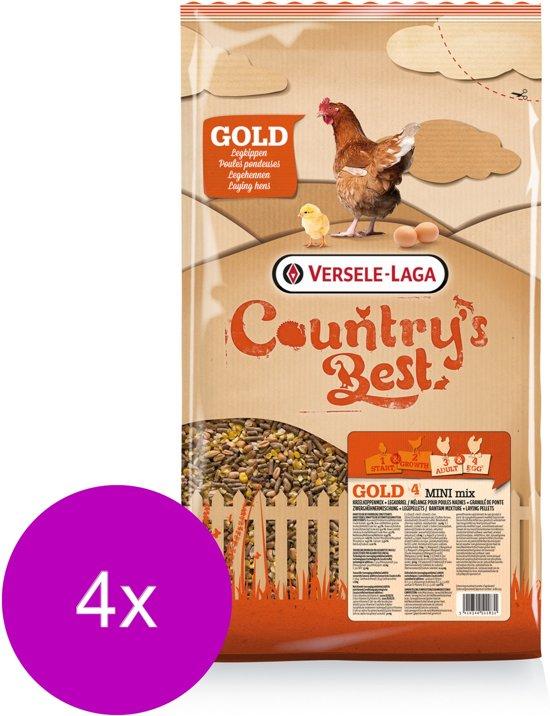 Versele-Laga Country`s Best Gold 4 Mini Mix - Kippenvoer - 4 x 5 kg