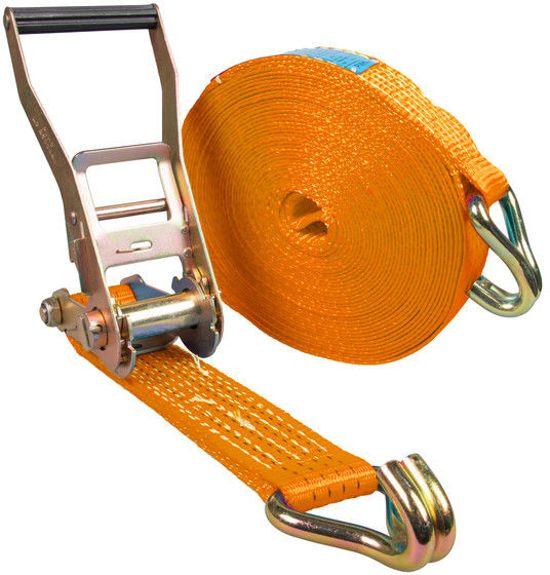 Logistiekconcurrent.nl Spanband 2-delig 75mm 10 ton Oranje 10M