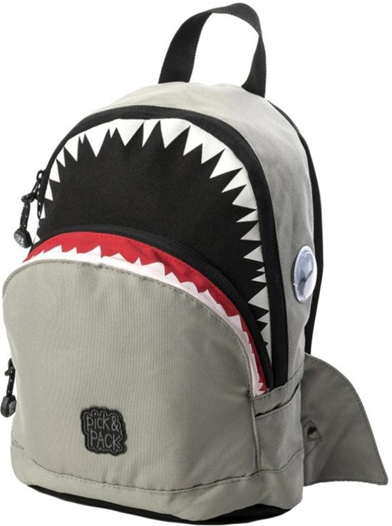 Pick & Pack Shark Shape - Rugzak - Grey