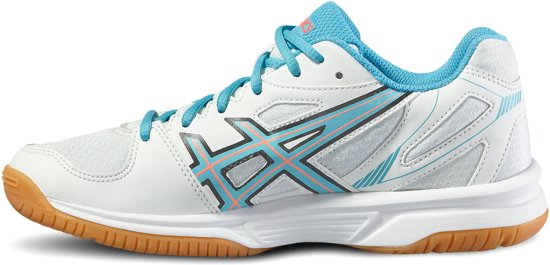 Asics Gel-Flare 5 indoorschoenen Junior  Sportschoenen - Maat 37.5 - Unisex - wit/blauw