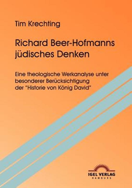 Boek cover Richard Beer-Hofmanns J disches Denken van Tim Krechting (Paperback)