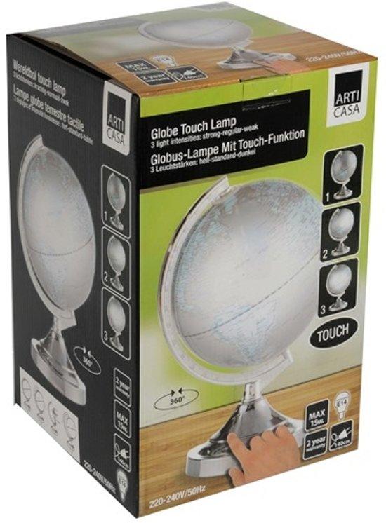 bol.com | Wereldbol met verlichting touchlamp 31*dia.20cm