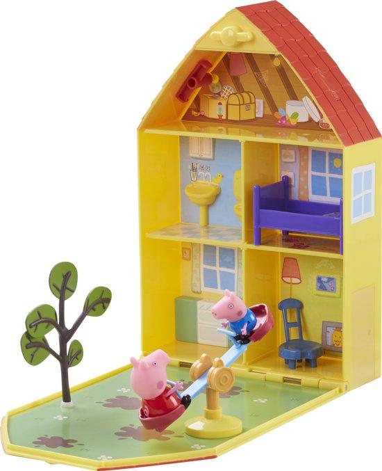 Peppa Pig - Huis van Peppa met tuin en 2 figuren
