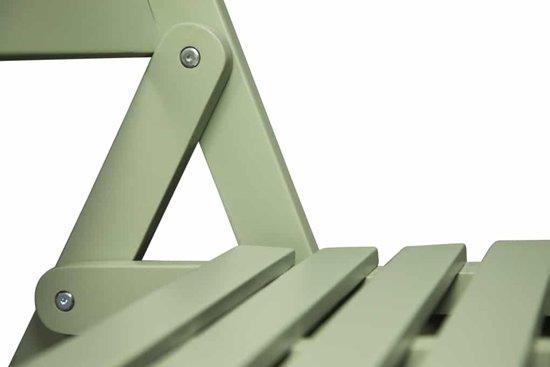 Lanterfant® Tuinbank Cees - Vintage groen - Inklapbaar - Compact