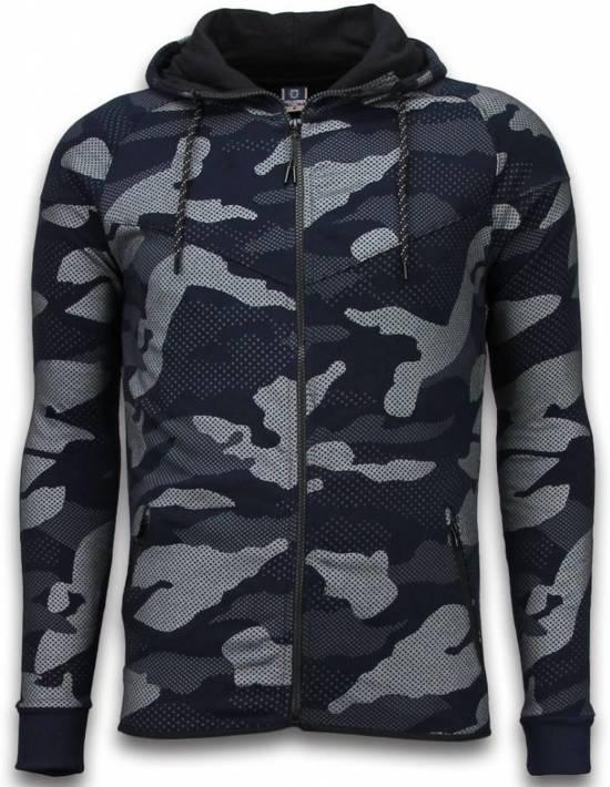 JMPR Exclusive Camouflage Trainingspakken - Camouflage Joggingpak - Navy - L