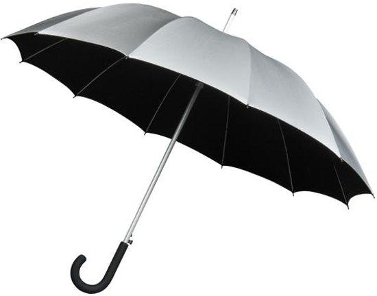 Falcone® Automatische Paraplu - Ø 110 cm - Zwart/Zilver