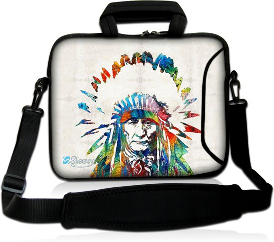 ce928d5baab Laptoptas 15,6 inch Indiaan - Sleevy - laptophoes voorvak - laptop sleeve -  smalle