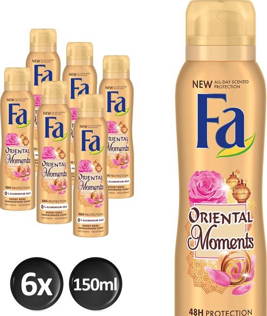 Fa Deospray Oriental Moments - 6 x 150ml - Voordeelverpakking