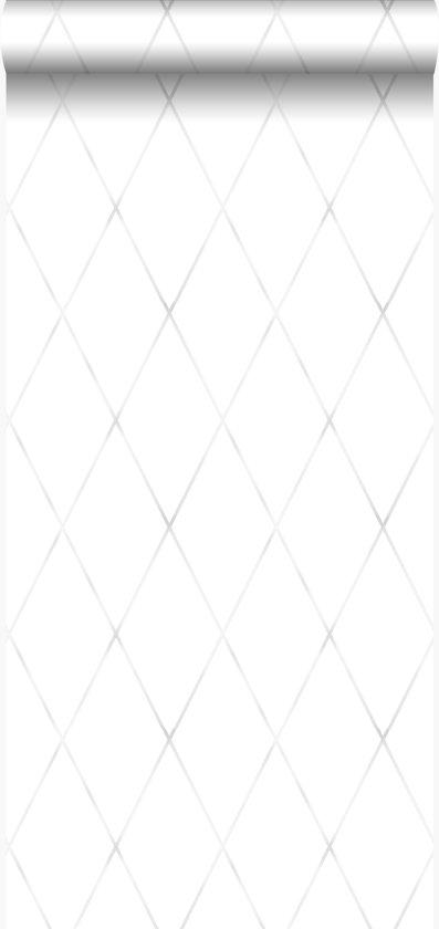 Origin behang wieberruit-motief licht warm grijs - 347492