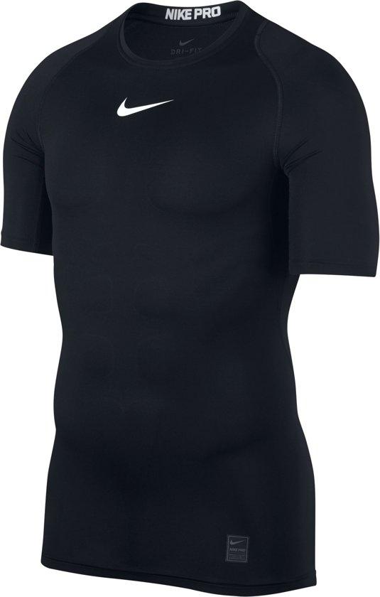74511dc6d14 bol.com | Nike Pro Top Ss Compression Sportshirt Heren - Zwart