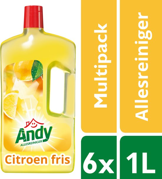 Andy Citroen Fris Allesreiniger - 6 x 1 l - Voordeelverpakking