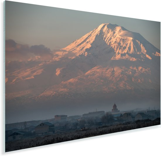 De berg Ararat voor zonsopgang in Turkije Plexiglas 60x40 cm - Foto print op Glas (Plexiglas wanddecoratie)