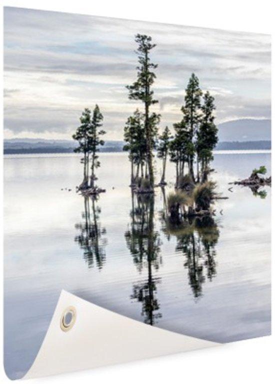 Lake Brunner Nieuw-Zeeland Tuinposter 40x60 cm - klein - Tuindoek / Buitencanvas / Schilderijen voor buiten (tuin decoratie) / Zee en Strand