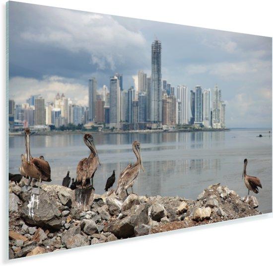Donkere wolken boven Panama Stad Plexiglas 120x80 cm - Foto print op Glas (Plexiglas wanddecoratie)