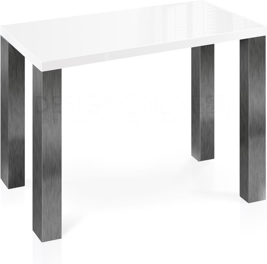 Wit Hoogglans Tafelblad.Bol Com 24designs Bartafel High Gloss L135 X B70 X H92