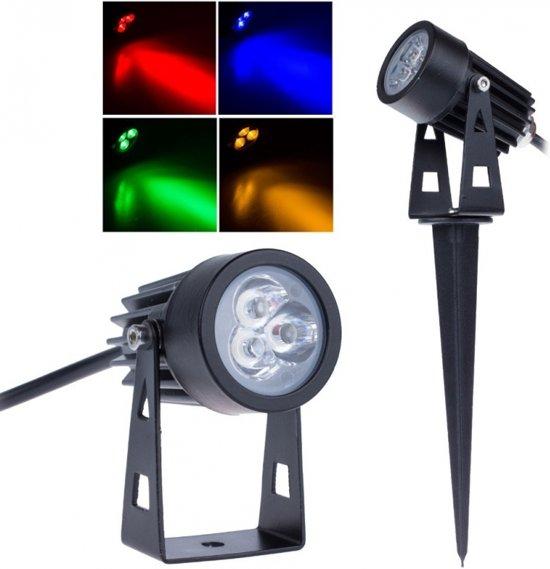 bol.com | LED tuinverlichting - grond spot 12V 3W - RGB + IP68 ...