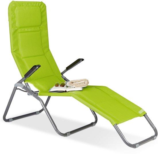 Voorkeur bol.com | relaxdays ligstoel XXL gepolsterd - lange tuinstoel UD74