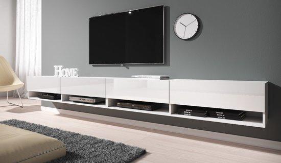 Meubella - TV-Meubel Asino - Wit - 280 cm (2x 140)