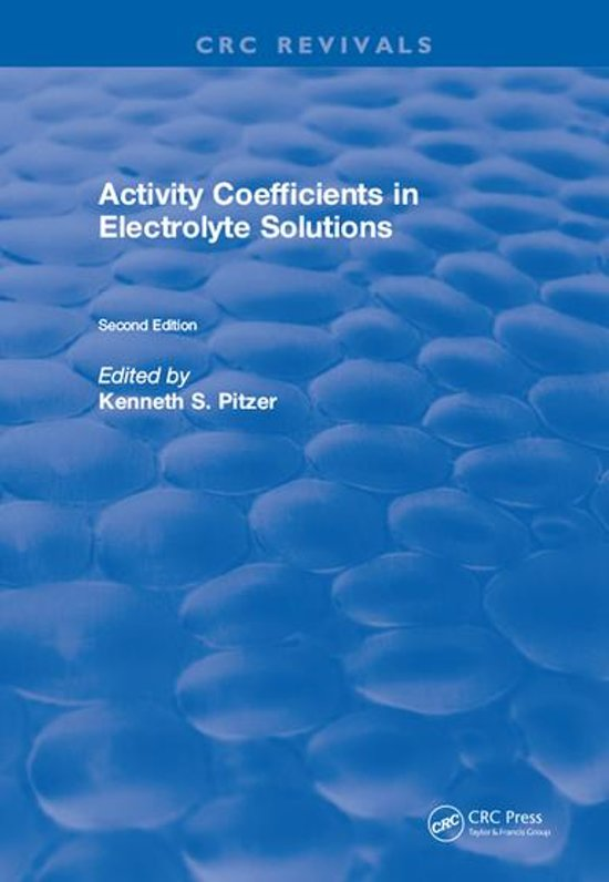 Activity Coefficients in Electrolyte Solutions