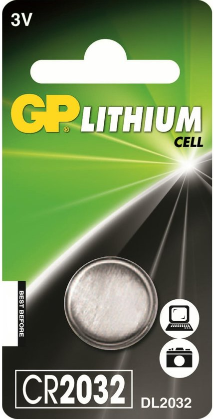 GP CR2032 Lithium batterij 3V 5-pack