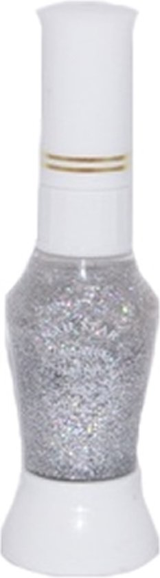 Nagellakpen Glitters Zilver 2 in 1