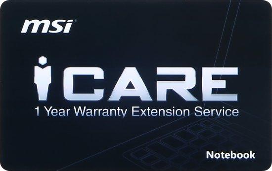 MSI 1 jaar garantieverlenging Notebook