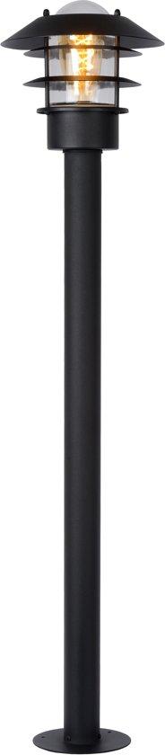 Lucide ZICO - Lantaarnpaal Buiten - Ø 21,8 cm - E27 - IP44 - Zwart