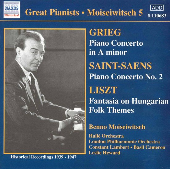 Moisiewitsch:Grieg-Piano Conc