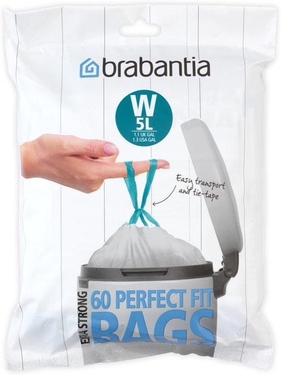Brabantia Perfectfit Code W - 5 Liter (60 stuks)