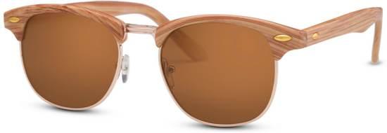 2f5b9ee85e8041 Cheapass Zonnebrillen - Clubmaster zonnebril - Goedkope zonnebril - Houten  zonnebril