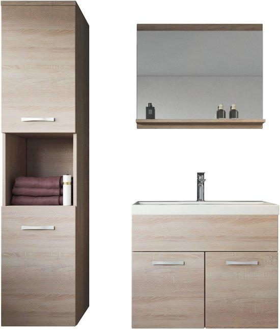 Badkamerkast Grijs Eiken : Bol badplaats badkamermeubel montreal cm licht eiken