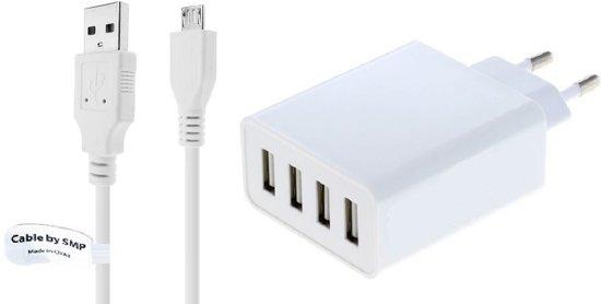 4,8A oplader en laadkabel. 2,2 m Oplaadsnoer met adapter stekker Past ook op Archos. o.a. Access 40, Access 45, Access 50, Access 50 Color, Access 50s