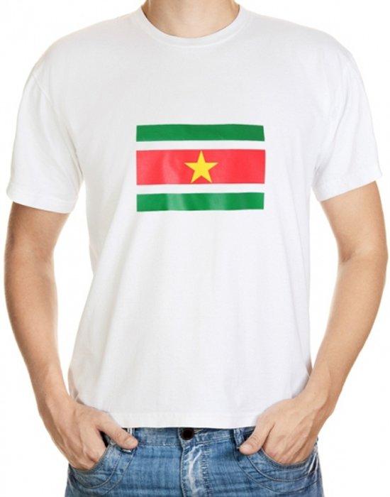 Suriname t-shirt wit volwassenen M