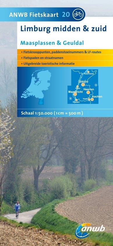 ANWB Fietskaart 20 / Limburg Midden en Zuid, Maasplassen en Geuldal