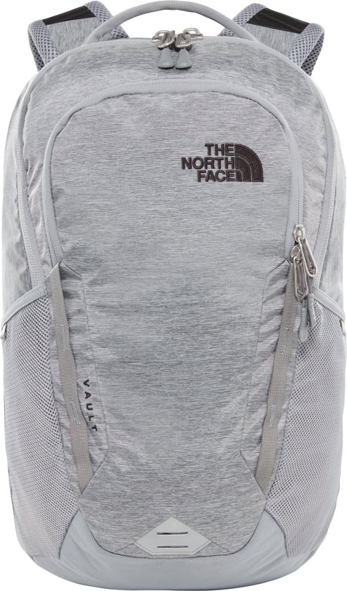 The North Face Vault Rugzak - One Size - Mid Grey Dark Heather/TNF Black