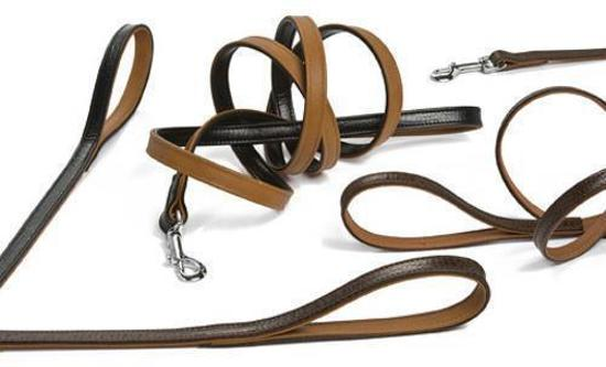 Pet Products Leren Looplijn Classic Br/zw 12x100cm