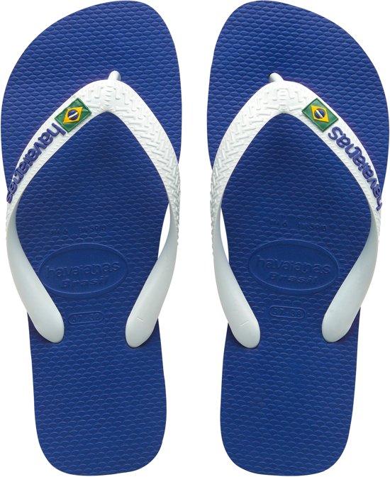 Slippers Blue Havaianas Logo Brasil Unisex Marine qxRwEz4S
