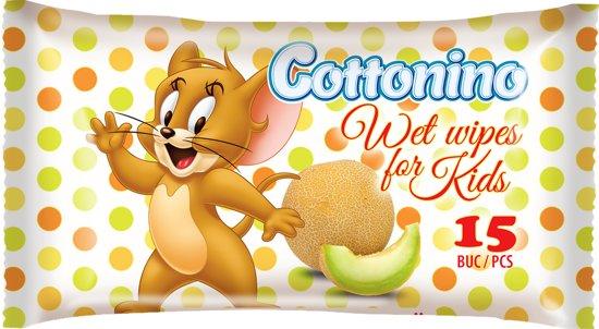 Cottonino Tom & Jerry Baby Vochtige Doekjes - Melon - Baby Wet Wipes 18x15 stuks