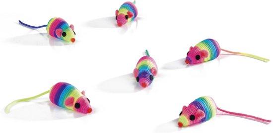 Beeztees Speelmuisjes - Rainbow - 5 cm
