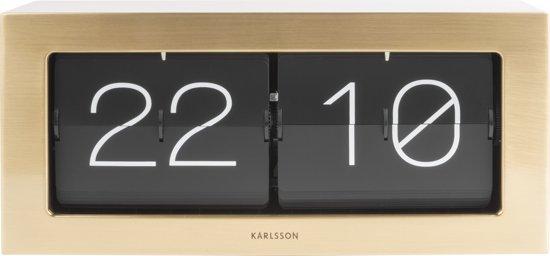 Karlsson Boxed Flip Tafelklok 37 x 17,5 cm