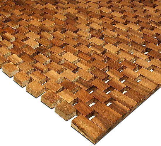Saunamat, Sauna, Douchemat, Badmat, acaciahout, FSC, blokjes design