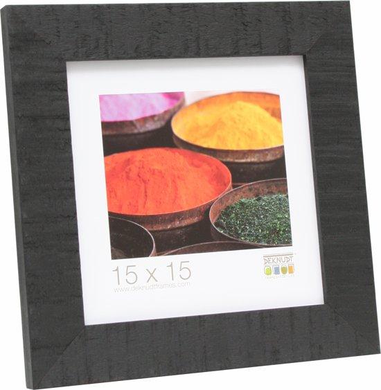 Deknudt Frames Fotokader zwart, ruw hout fotomaat 40x40 cm