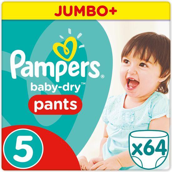 Pampers Baby-Dry Pants - Maat 5 (Junior) 12-17 kg - 64 Stuks - Luierbroekjes