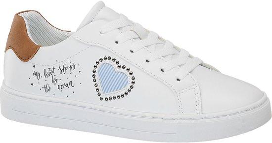 5f7c2ce091e bol.com | Graceland Dames Witte sneaker tekst - Maat 40