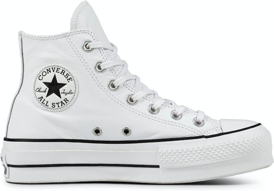 9fc91d8f335 converse all stars wit hoog sale Converse All Stars Hoog Lift Clean Leather  561676C Wit-