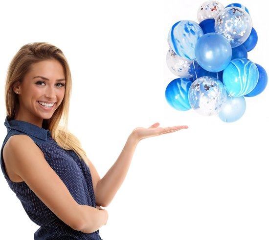 Bol Com 20 Confetti Ballonnen Blauw Ideaal Voor Verjaardag Of