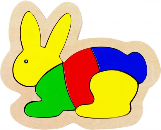 Goki Inlegpuzzel konijn 5-delig
